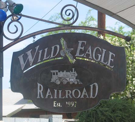 Wild Eagle Railroad Sign
